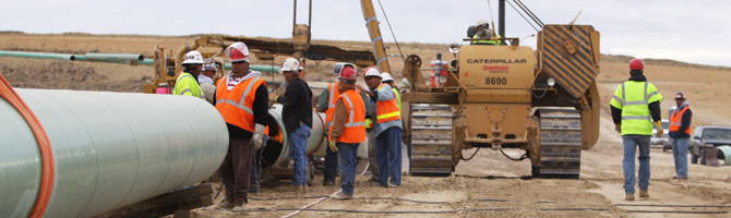 Working safely while constructing the pipeline